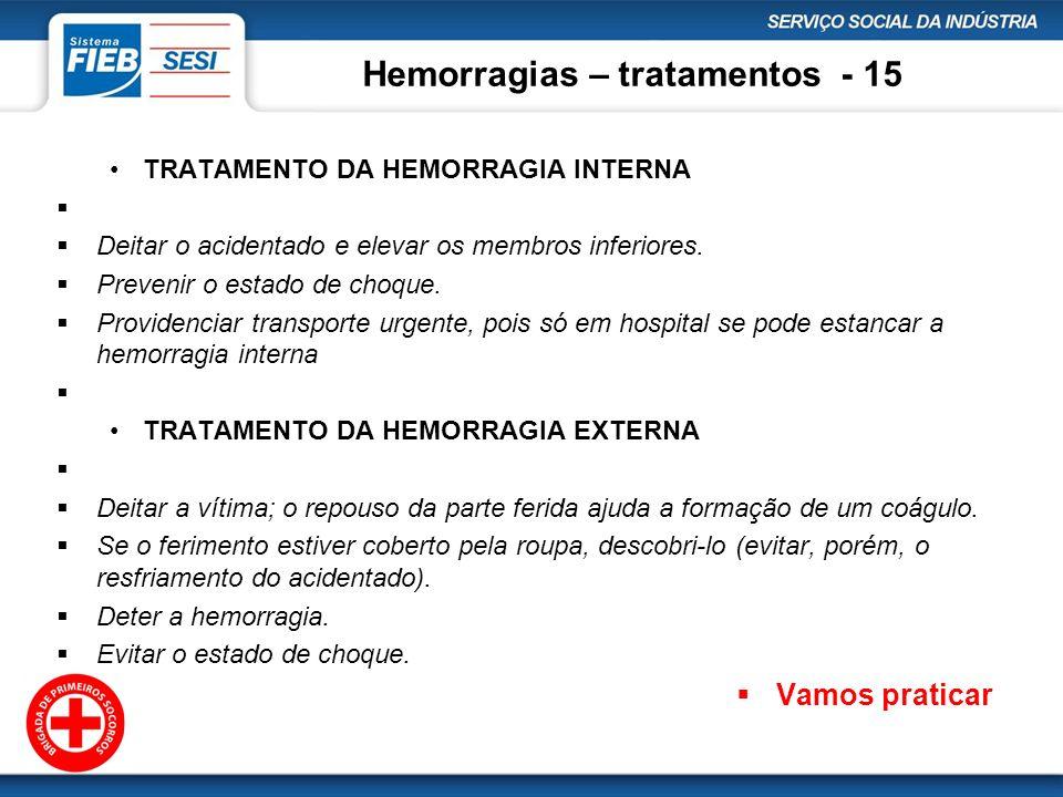 Hemorragias – tratamentos - 15