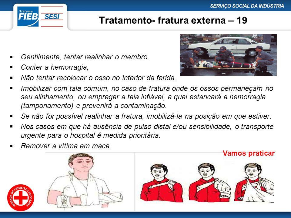 Tratamento- fratura externa – 19