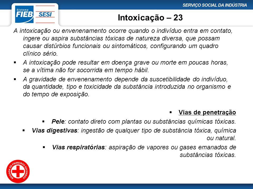 Intoxicação – 23