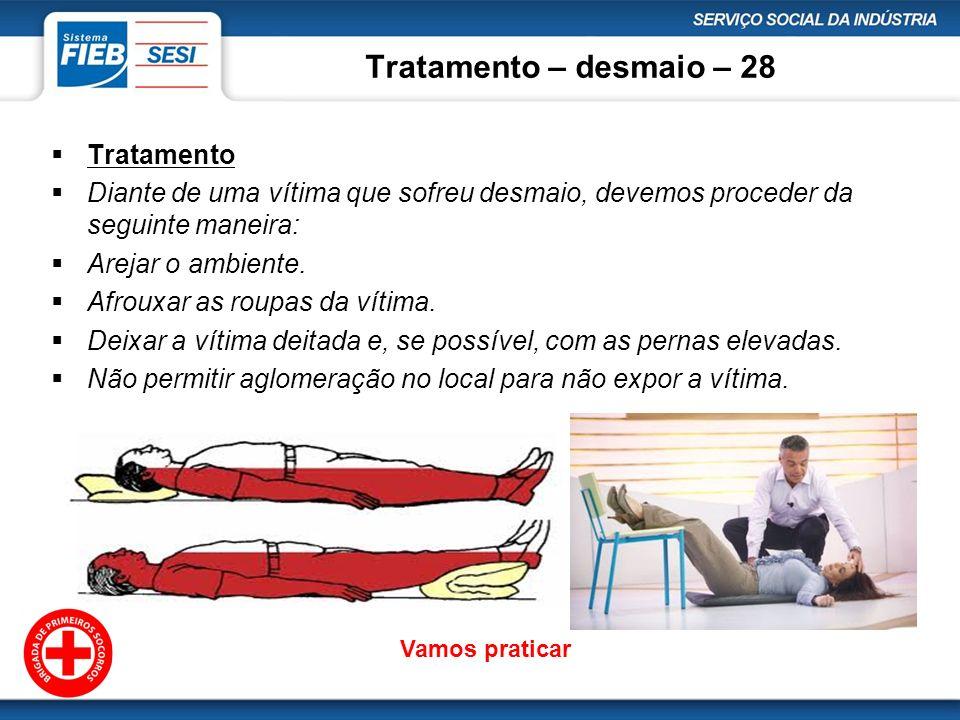 Tratamento – desmaio – 28 Tratamento