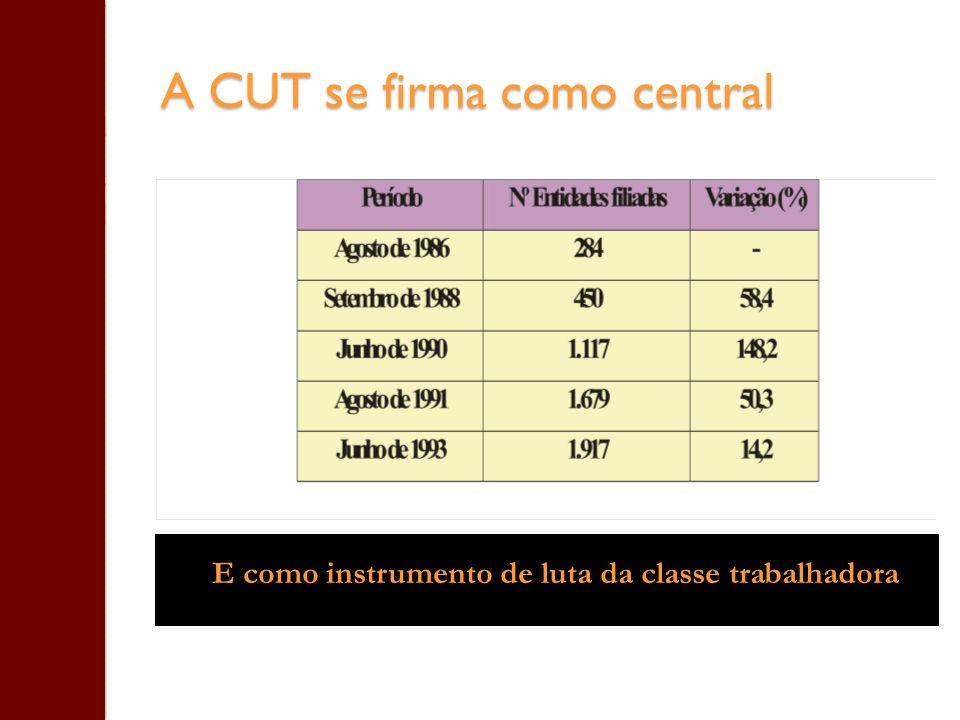 A CUT se firma como central