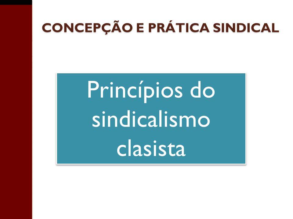 CONCEPÇÃO E PRÁTICA SINDICAL