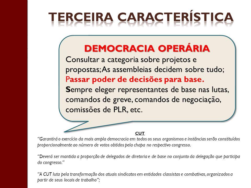 TERCEIRA CARACTERÍSTICA