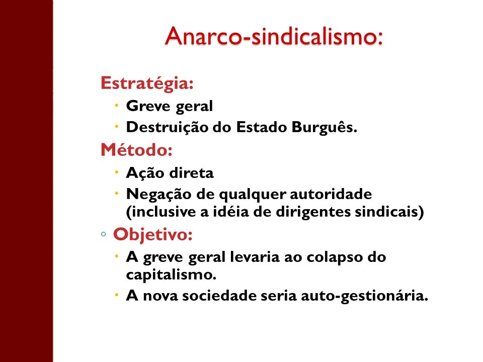 Anarco-sindicalismo: