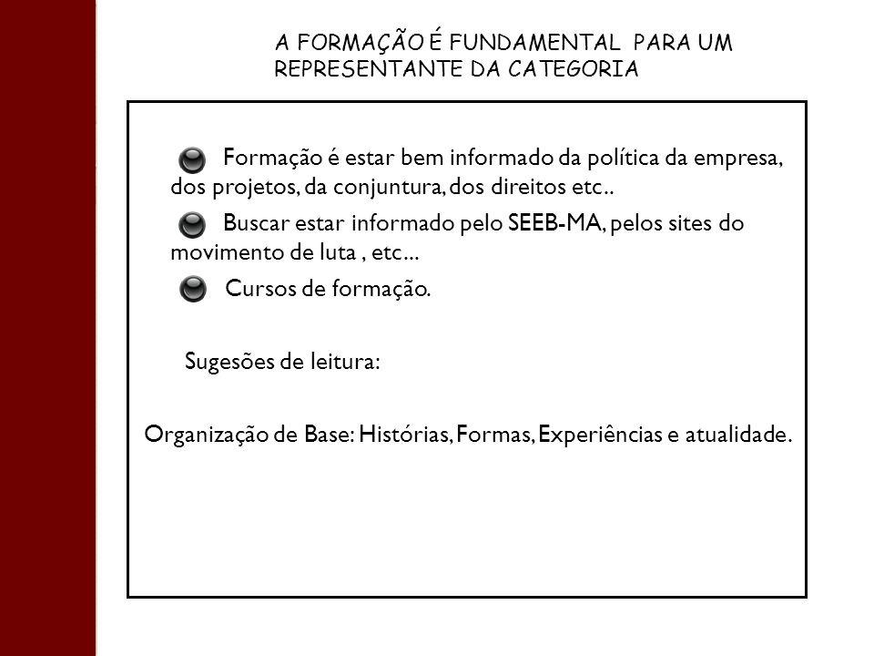 Organização de Base: Histórias, Formas, Experiências e atualidade.