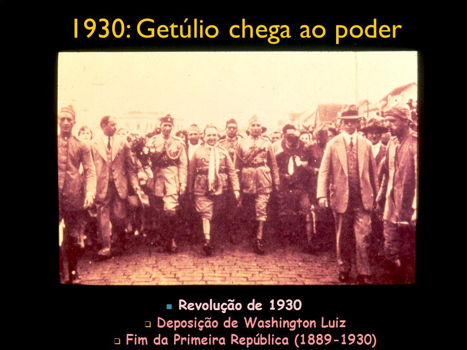1930: Getúlio chega ao poder