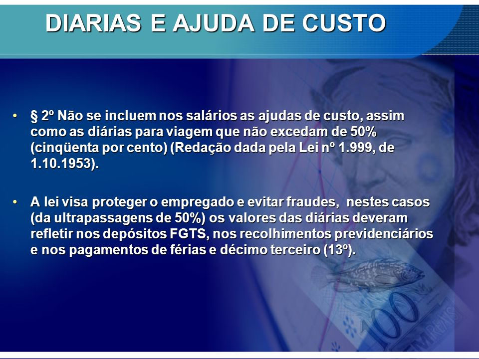 DIARIAS E AJUDA DE CUSTO
