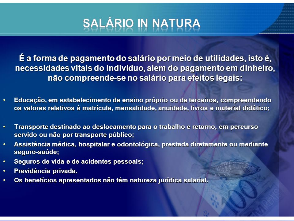 SALÁRIO IN NATURA