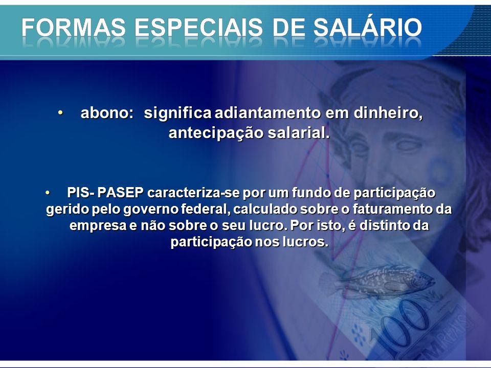 Formas especiais de salário