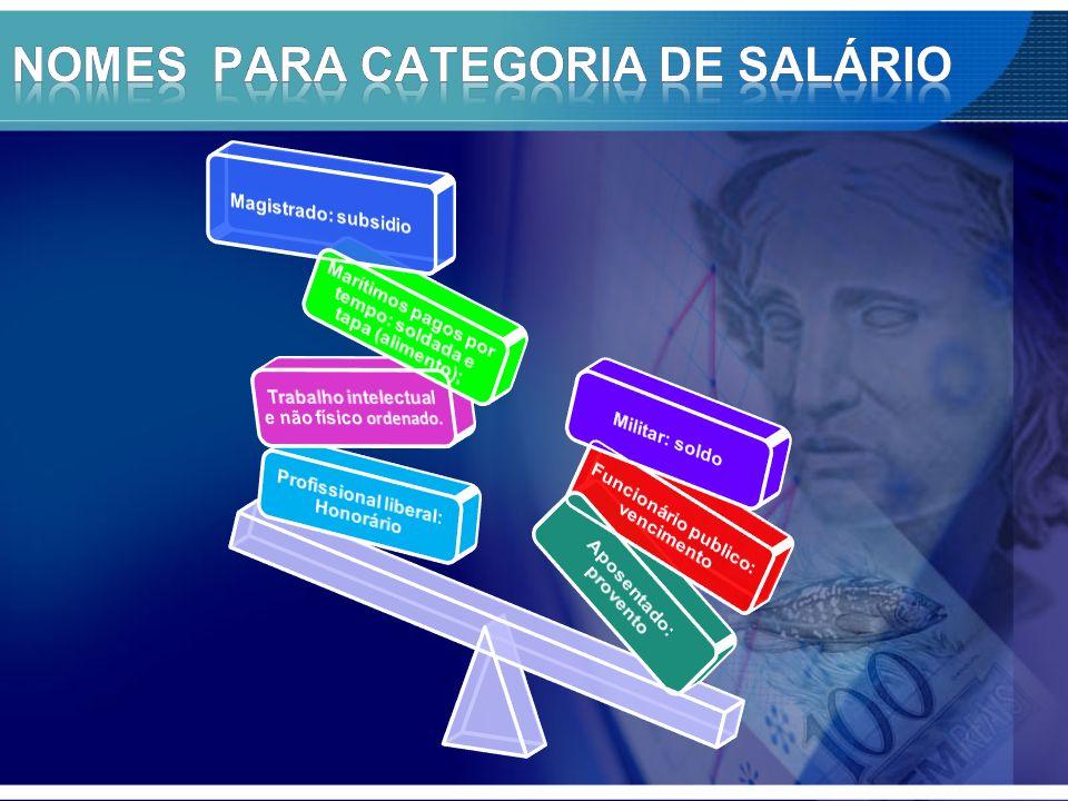 NOMES PARA CATEGORIA DE SALÁRIO