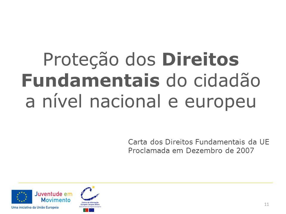 Proteção dos Direitos Fundamentais do cidadão a nível nacional e europeu