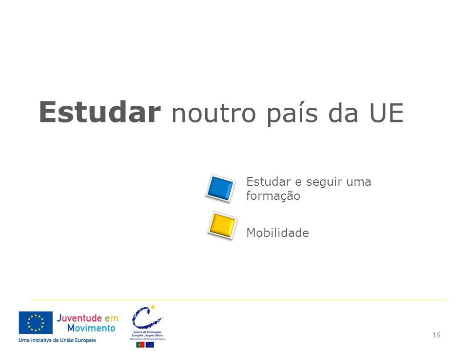 Estudar noutro país da UE
