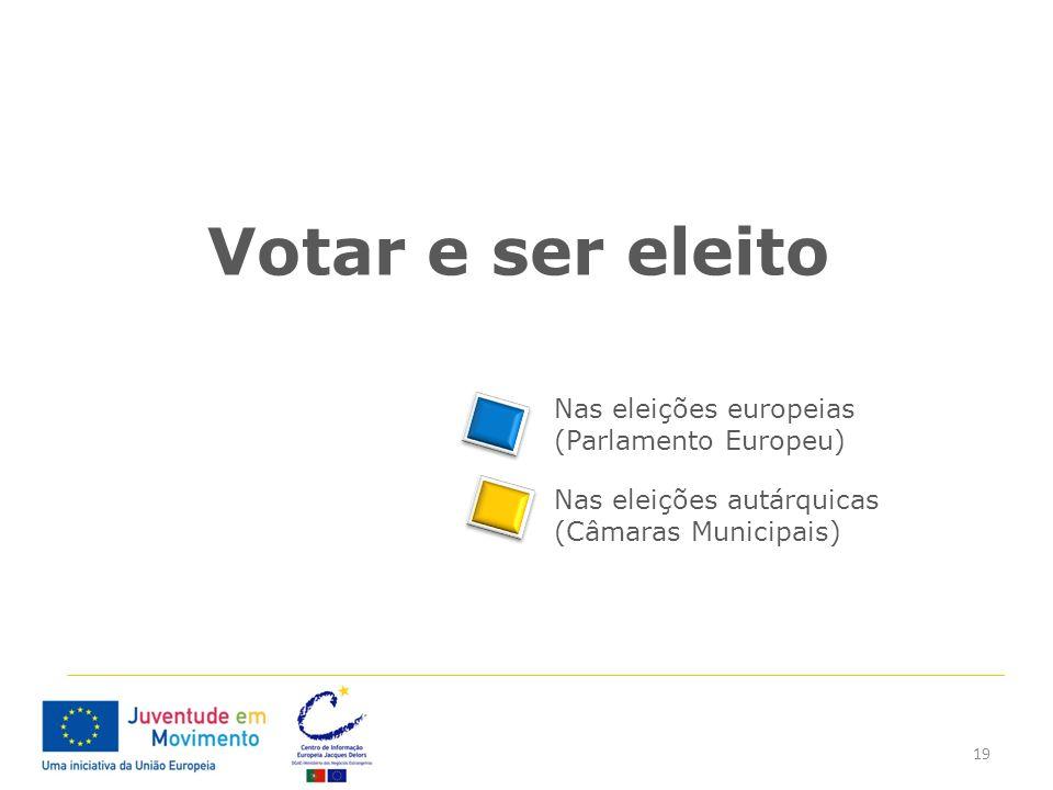 Votar e ser eleito Nas eleições europeias (Parlamento Europeu)