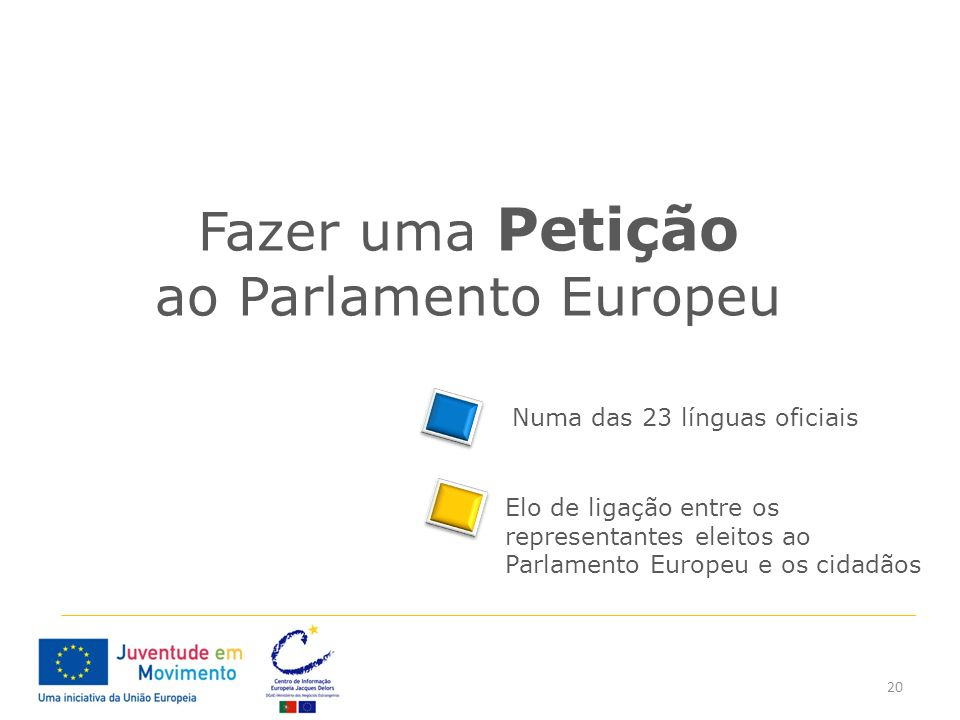 Fazer uma Petição ao Parlamento Europeu