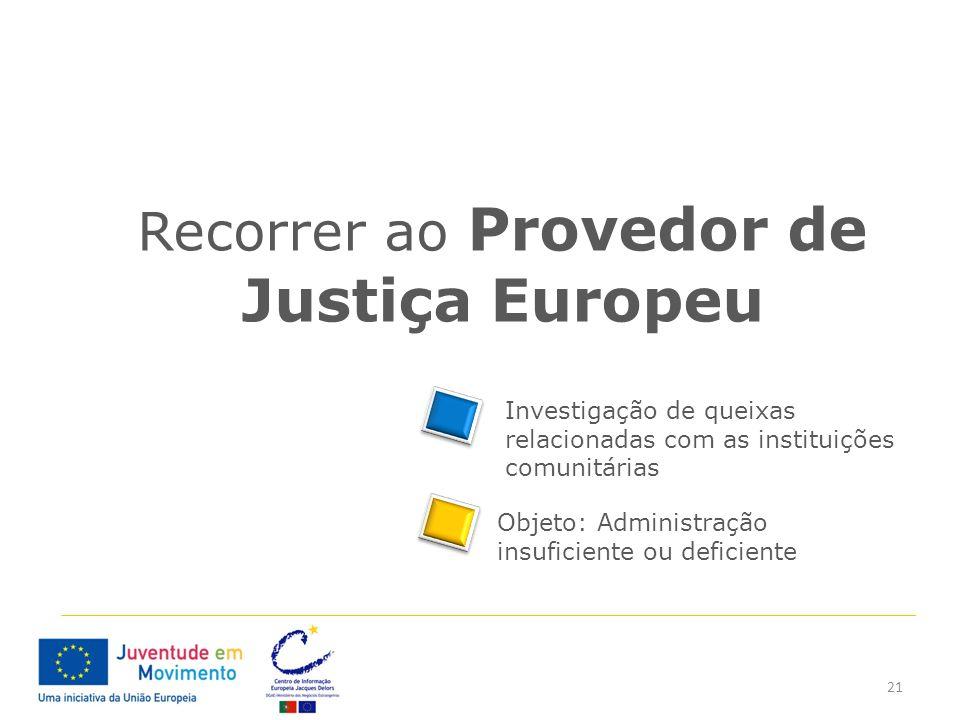 Recorrer ao Provedor de Justiça Europeu