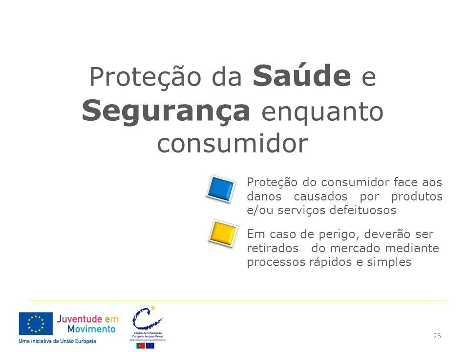 Proteção da Saúde e Segurança enquanto consumidor