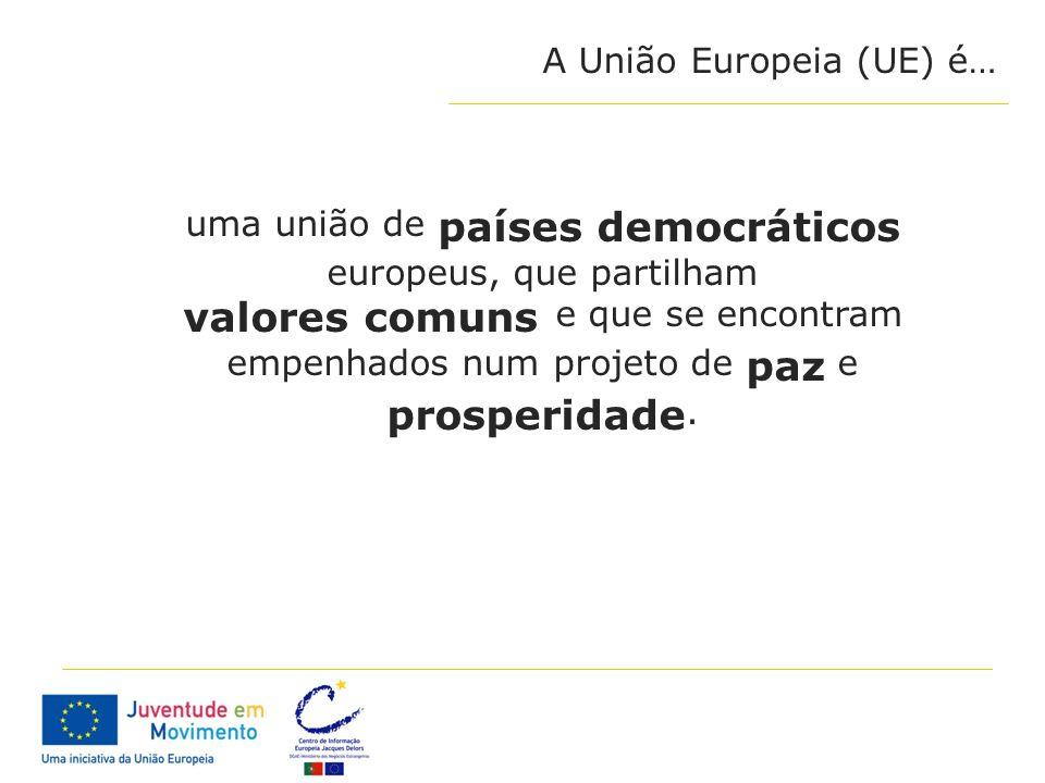 uma união de países democráticos europeus, que partilham