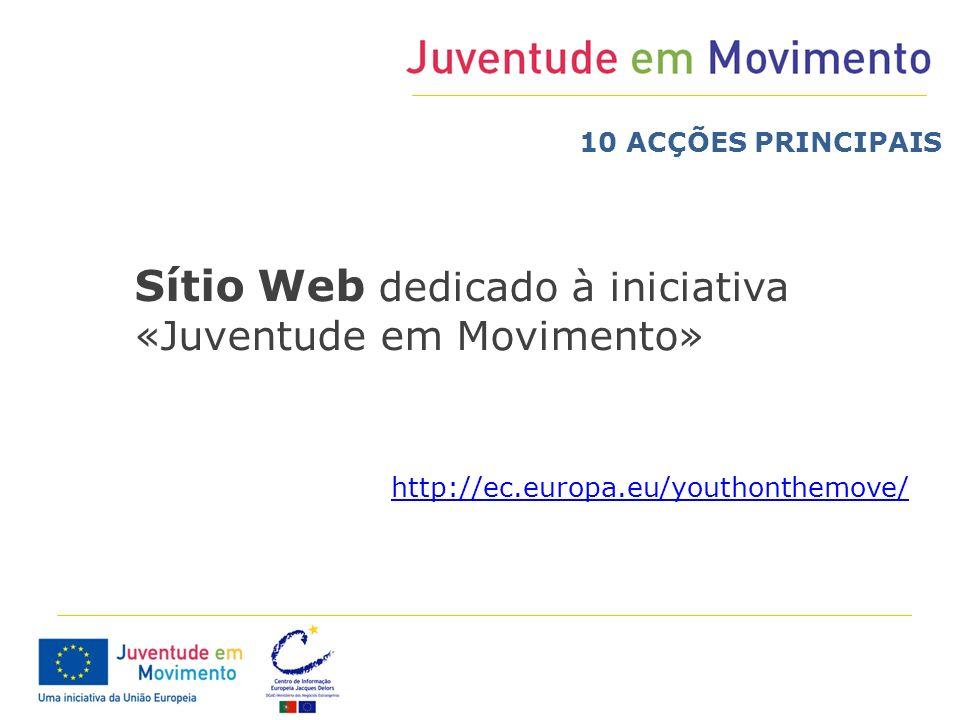 Sítio Web dedicado à iniciativa «Juventude em Movimento»
