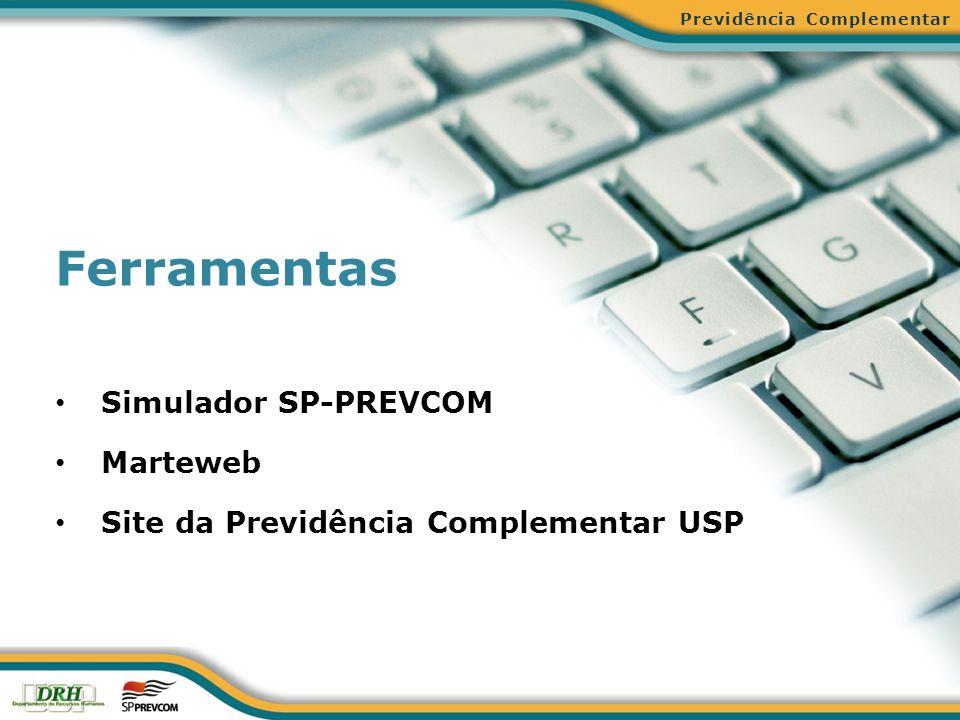 Ferramentas Simulador SP-PREVCOM Marteweb