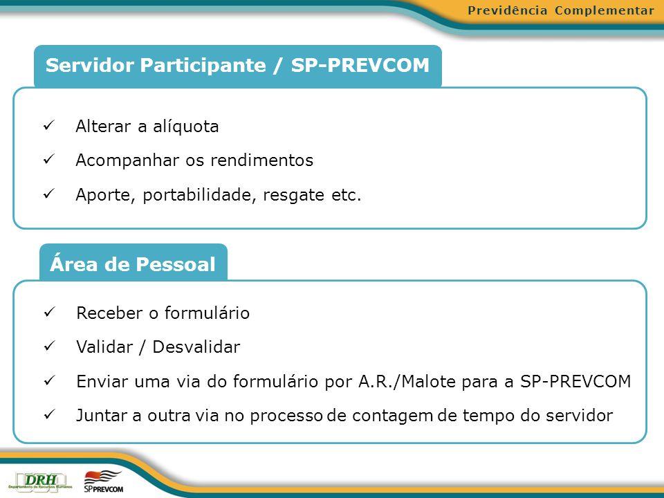 Servidor Participante / SP-PREVCOM