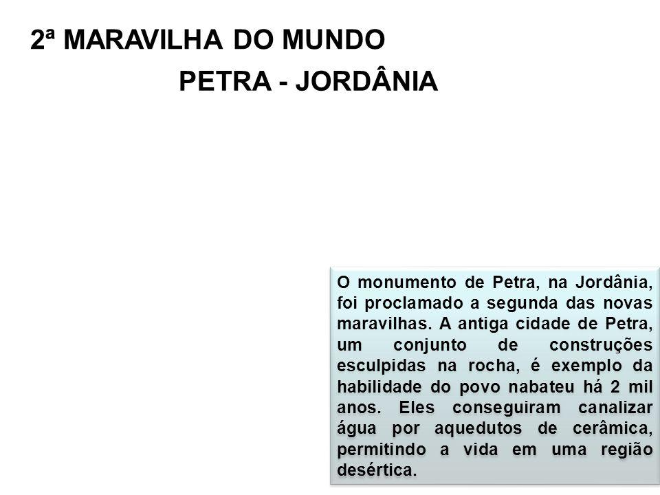 2ª MARAVILHA DO MUNDO PETRA - JORDÂNIA