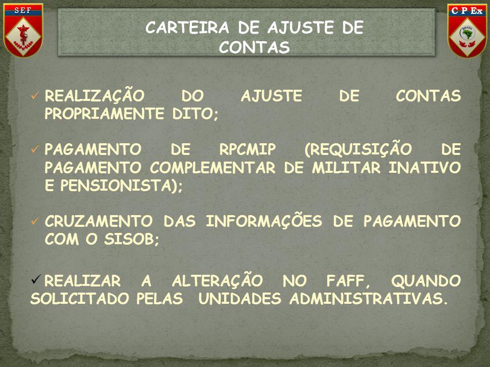 CARTEIRA DE AJUSTE DE CONTAS