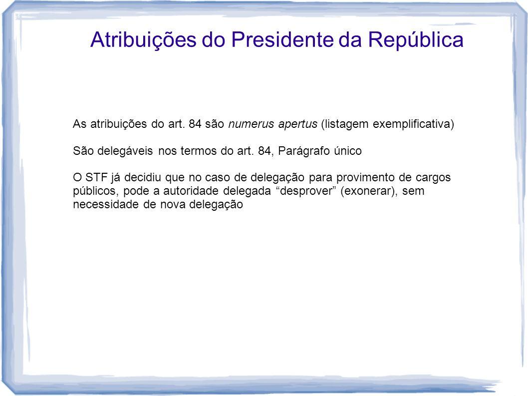 Atribuições do Presidente da República