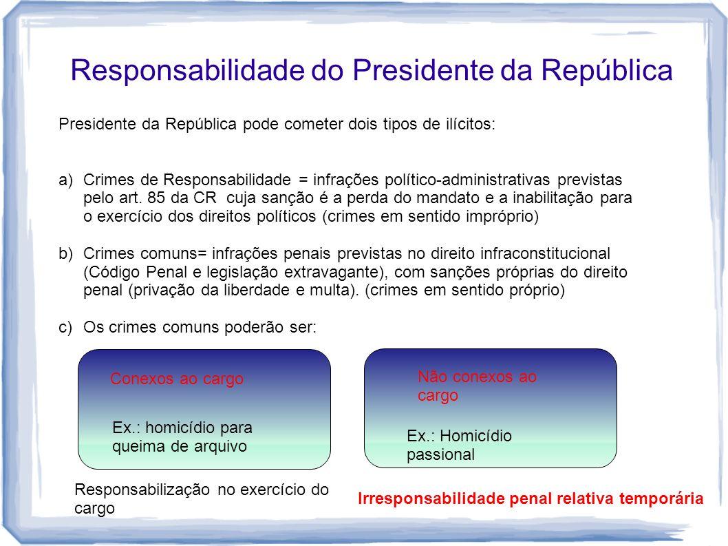Responsabilidade do Presidente da República