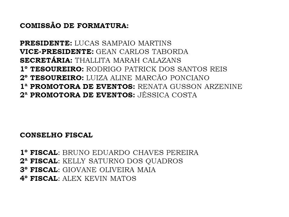COMISSÃO DE FORMATURA: