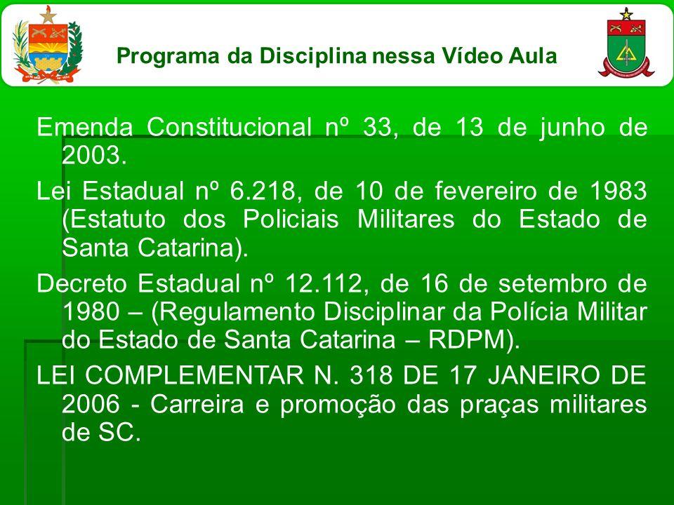 Programa da Disciplina nessa Vídeo Aula