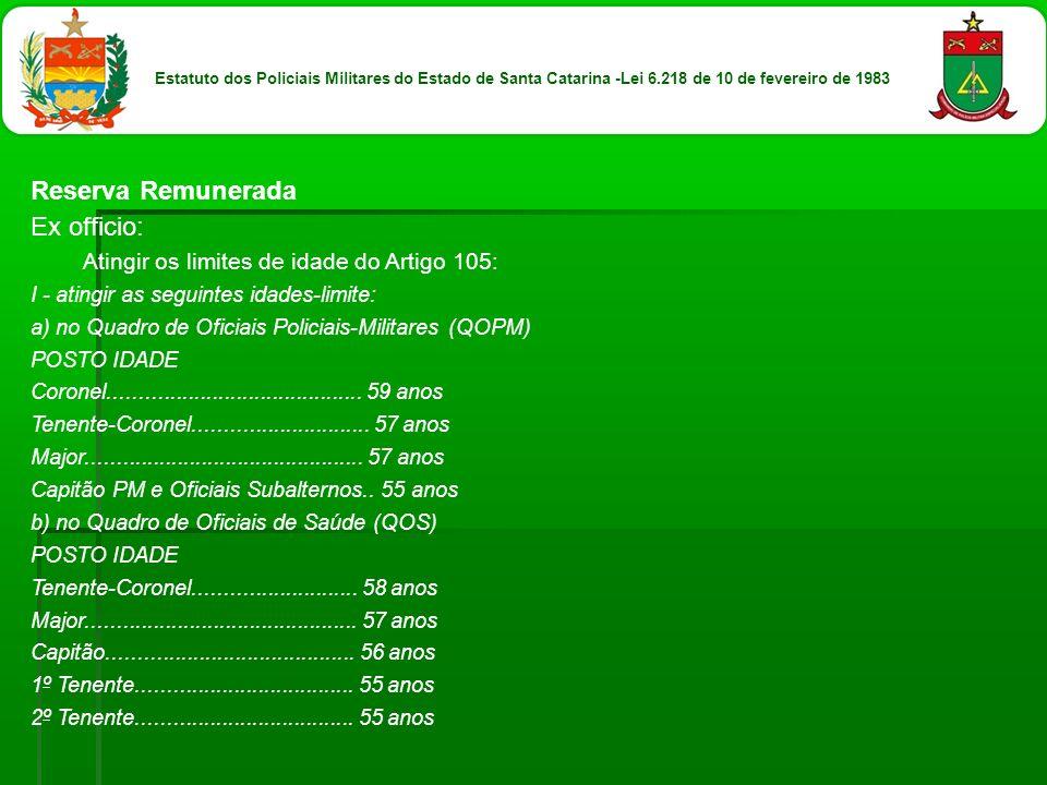 Reserva Remunerada Ex officio: