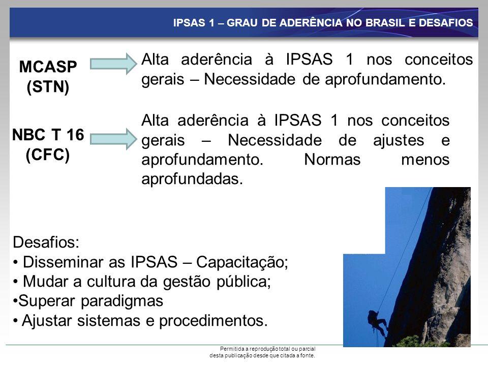 Disseminar as IPSAS – Capacitação; Mudar a cultura da gestão pública;