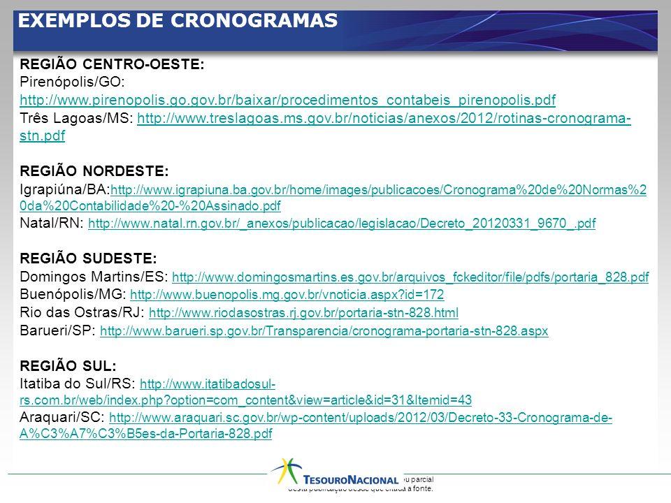 EXEMPLOS DE CRONOGRAMAS
