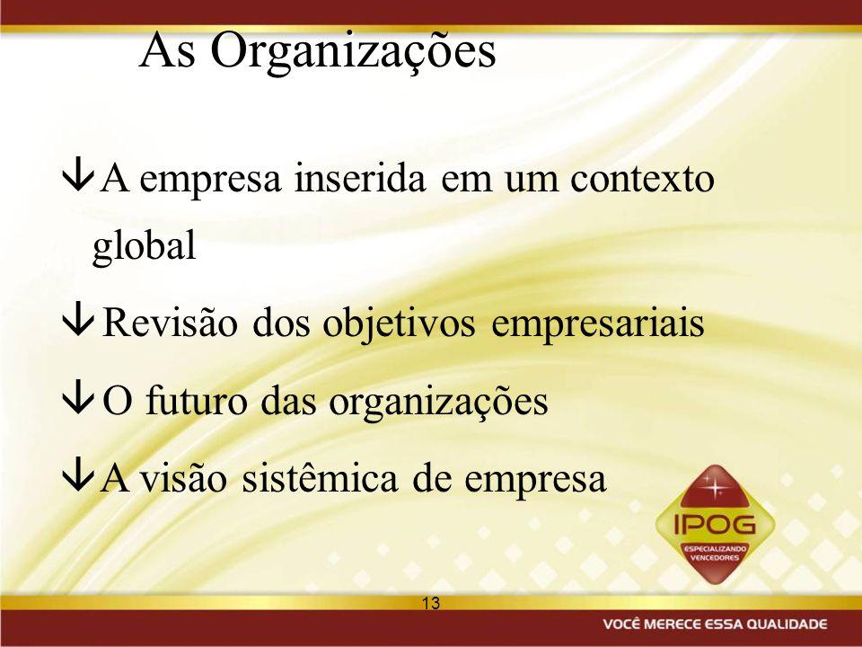 As Organizações A empresa inserida em um contexto global