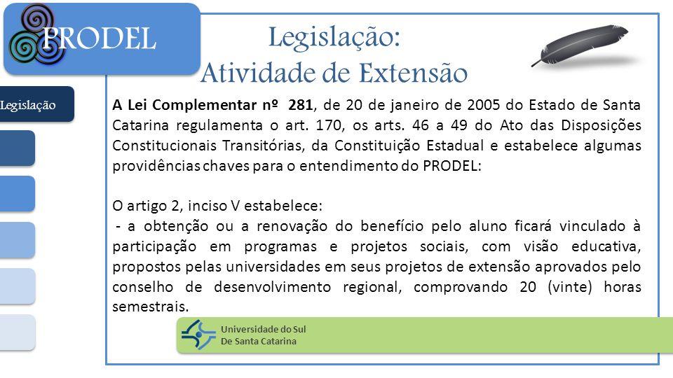 PRODEL Legislação: Atividade de Extensão