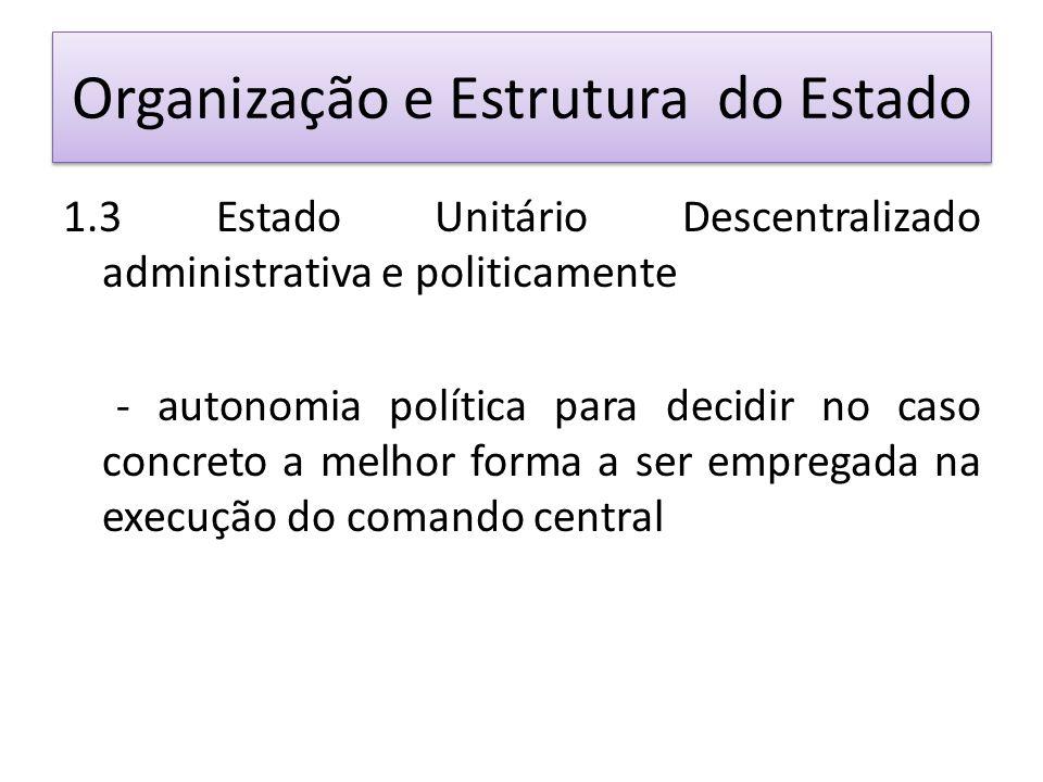 Organização e Estrutura do Estado