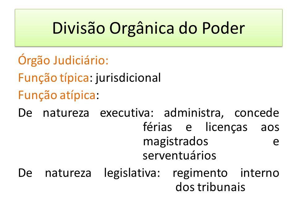 Divisão Orgânica do Poder