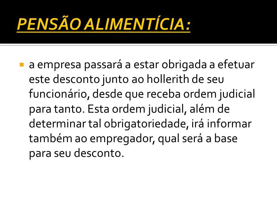 PENSÃO ALIMENTÍCIA: