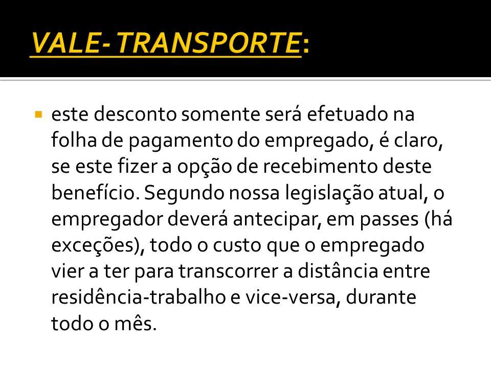VALE- TRANSPORTE:
