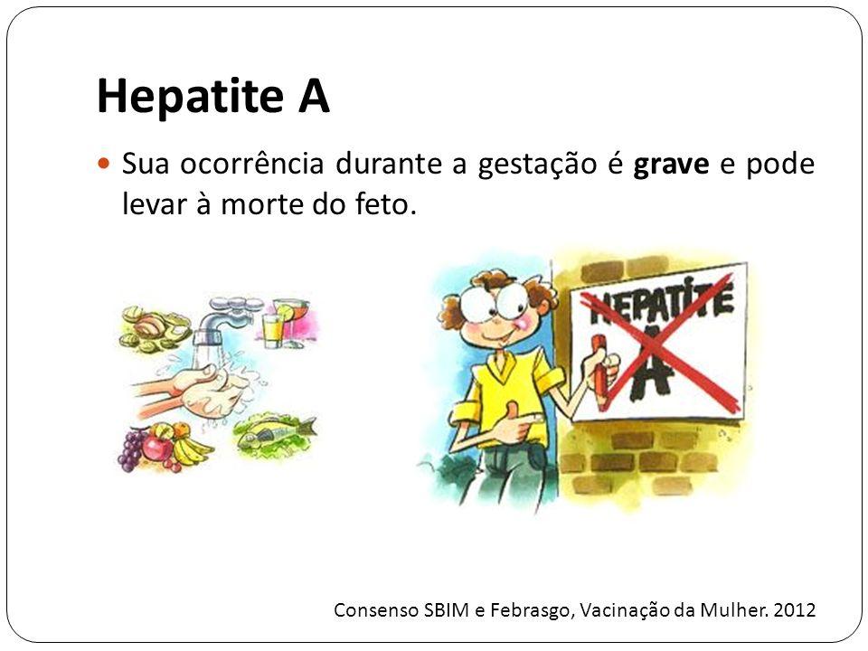 Hepatite A Sua ocorrência durante a gestação é grave e pode levar à morte do feto.