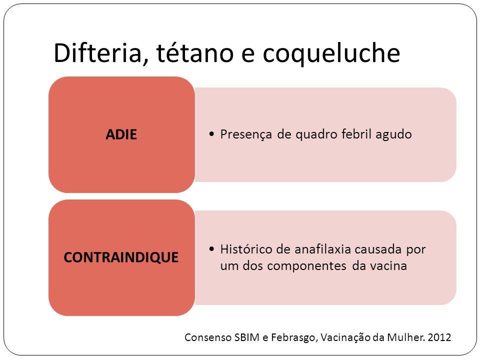 Difteria, tétano e coqueluche