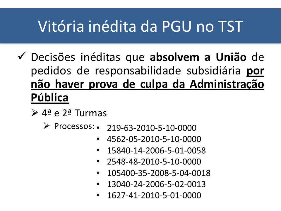 Vitória inédita da PGU no TST