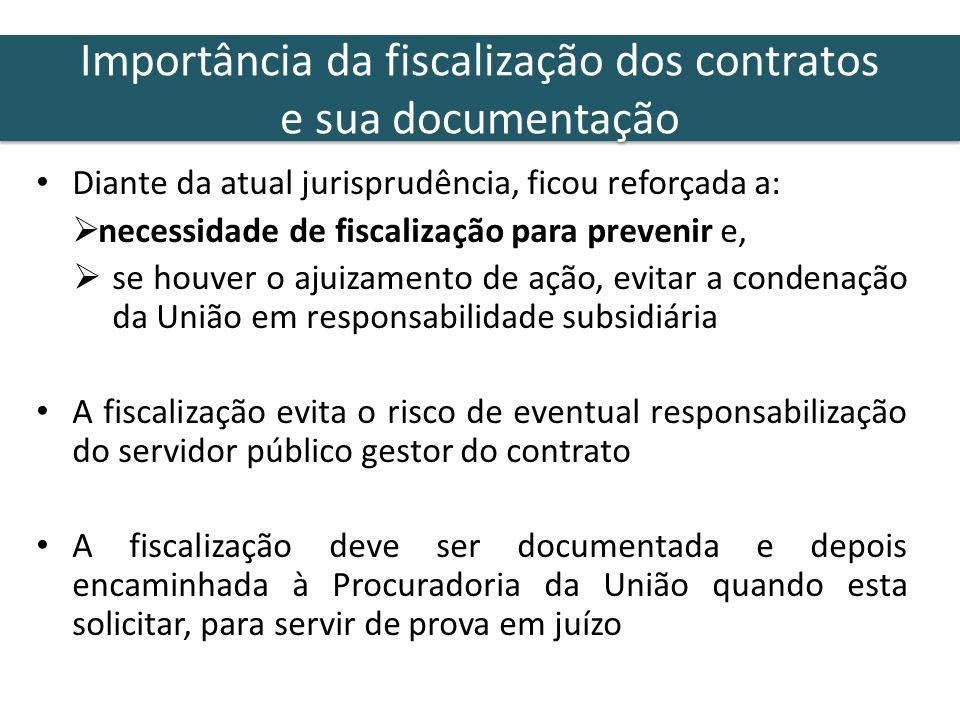 Importância da fiscalização dos contratos e sua documentação