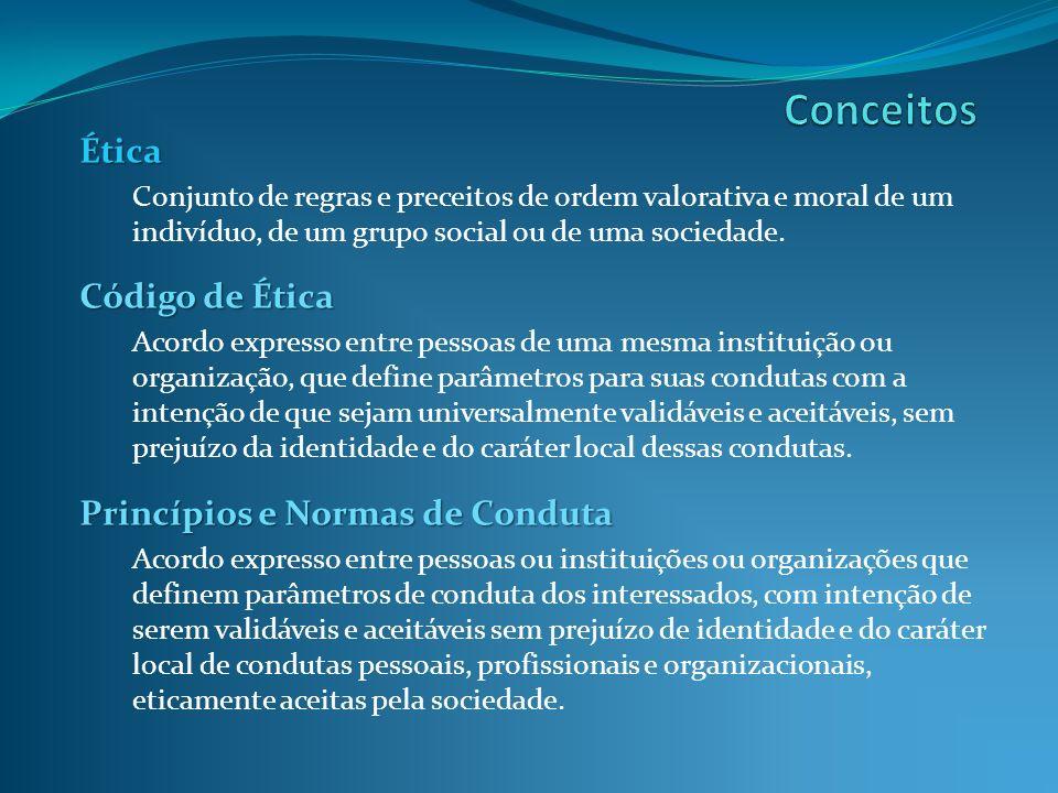 Conceitos Ética Código de Ética Princípios e Normas de Conduta