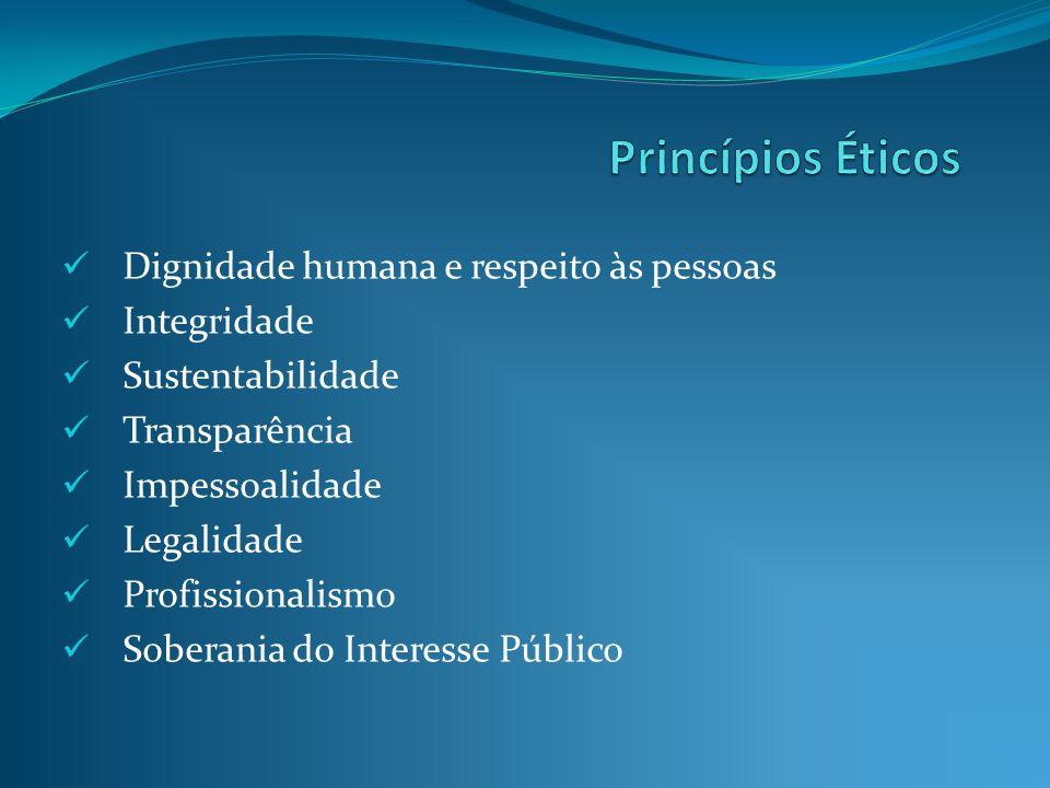 Princípios Éticos Dignidade humana e respeito às pessoas Integridade