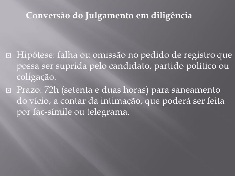 Conversão do Julgamento em diligência