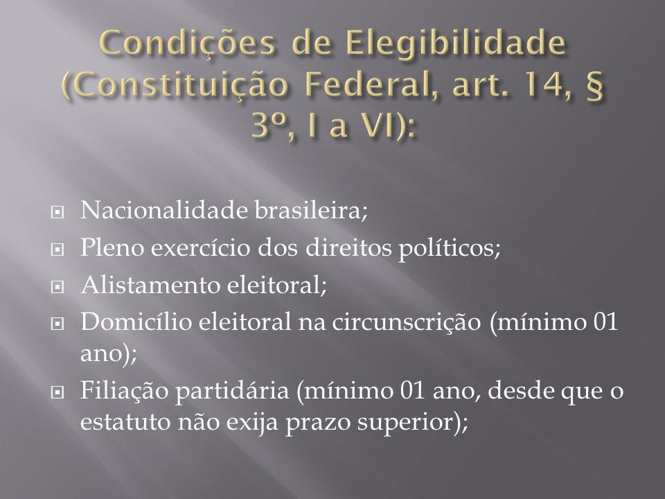 Condições de Elegibilidade (Constituição Federal, art