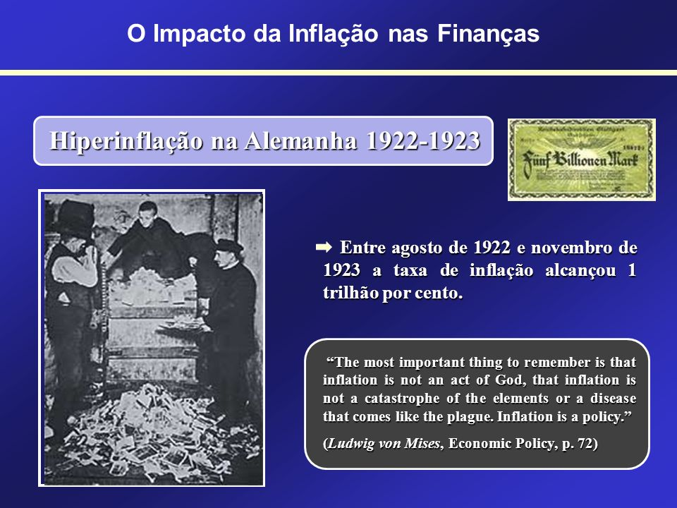 O Impacto da Inflação nas Finanças Hiperinflação na Alemanha 1922-1923