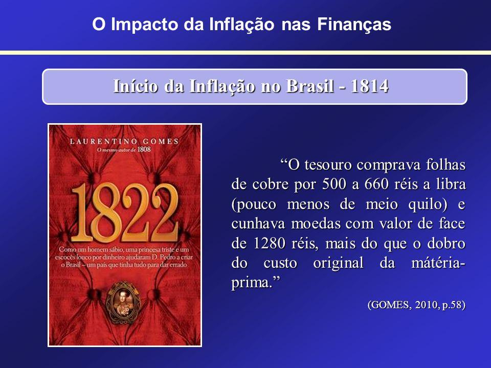 O Impacto da Inflação nas Finanças Início da Inflação no Brasil - 1814