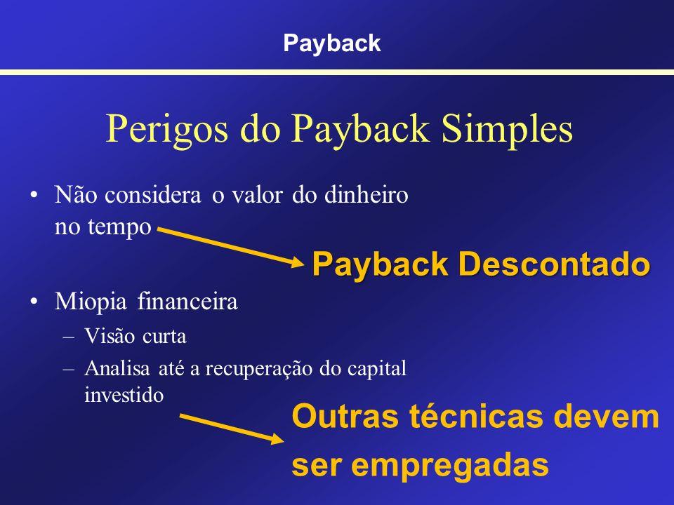Perigos do Payback Simples